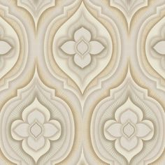 York Wallcoverings Candice Olson Dream on Rhapsody L x W Floral and Botanical Wallpaper Roll Color: Cream/Beige/Gray/Khaki Embossed Wallpaper, Brick Wallpaper, Wallpaper Panels, Wallpaper Roll, Peel And Stick Wallpaper, Art Deco Design, Retro Design, Transitional Wallpaper, Wallpaper Warehouse