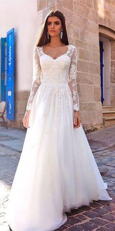 New Full Lace Split Wedding Dresses With Detachable Satin