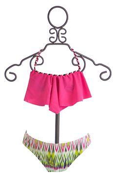 To The 9's Tween Handkerchief Bikini in Fuchsia (7