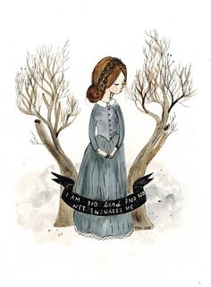Jane Eyre. Watercolor print.
