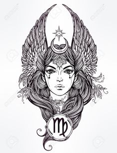 virgo woman drawing - Google Search More