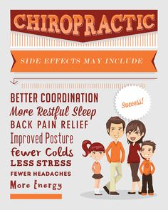 Chiropractic Posters by Kelsey Duncan, via Behance