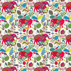 illustration | by Llew Mejia | Drew a bunch of baby elephants, stompin' through the jungles of India!