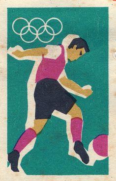 Football Spain 1963  Soccer Vintage Poster Print Retro Style Art Sports Travel
