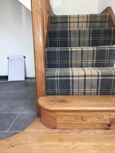 Terrific Photos tartan Carpet Stairs Ideas One of many fastest approaches to rev. Terrific Photos tartan Carpet Stairs Ideas One of many fastest approaches to revamp your tired old Hall Carpet, Carpet Stairs, White Carpet, Tartan Carpet, Basement Guest Rooms, Tartan Stair Carpet, Diy Carpet, Home Decor, Hallway Decorating