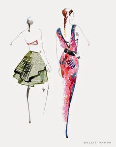 Ellie Rahim Illustration and Design: CZAR by Cesar Galindo Fashion Presentation Spring 2015