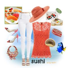 The outfit to dine on sushi by the seaside.