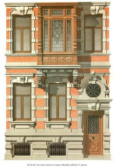 Detail of a residence, Brussel / Architect: V. Jamaer