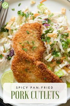 Spicy Pan-Fried Pork Cutlets | eMeals.com