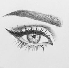 Ideas at PaintingValleycom Explore collection of sketch drawing ideas - Sketch Drawing Realistic Eye Drawing, Drawing Eyes, Painting & Drawing, Makeup Drawing, Pencil Art Drawings, Art Drawings Sketches, Easy Drawings, Eye Pencil Drawing, Eye Sketch