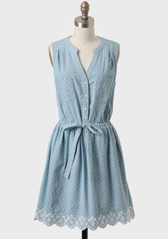 Polka Dot Chambray Dress elfsacks
