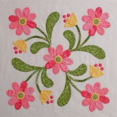 beautiful applique block