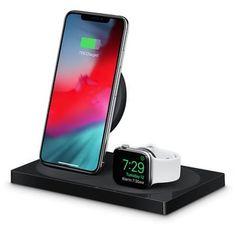 Belkin Boost Up Wireless Charging Dock for iPhone + Apple Watch - Black - Apple (UK) Apple Watch White, Black Apple, Caleb Y Sofia, Good Apps To Download, Latest Ios, Latest Iphone, Sticker App, Ios News, Birthday Songs