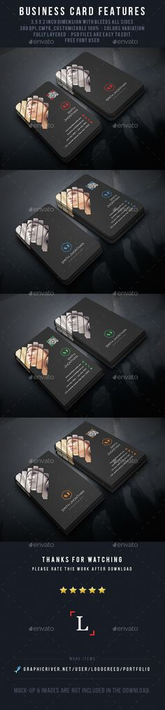 Buy Photography Business Card by UXcred on GraphicRiver. FEATURES: Easy Customizable and Editable Business card in with bleed CMYK Color Design in 300 DPI Resolut. Business Cards Layout, Business Card Design, Creative Business, Photography Business Cards, Photography Branding, Cv Web, Bussiness Card, Green Landscape, Advertising Design