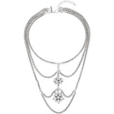 TOPSHOP Cluster Stone Multirow Necklace (€22) ❤ liked on Polyvore featuring jewelry, necklaces, clear, multi strand necklace, cluster jewelry, multi-chain necklace, cross necklace et stone necklace