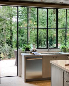 Kitchen Sink Window Decor Interior Design New Ideas Modern Farmhouse Kitchens, Farmhouse Style Kitchen, Home Decor Kitchen, Rustic Kitchen, Farmhouse Sinks, Kitchen Ideas, Farmhouse Decor, Industrial Style Kitchen, Industrial Interior Design