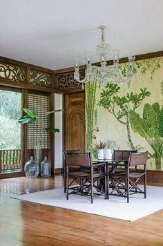 philippine home design/bahay-k Filipino Interior Design, Asian Interior, Tropical Interior, Tropical Decor, Home Interior Design, Interior Decorating, Interior Doors, Filipino Architecture, Philippine Architecture
