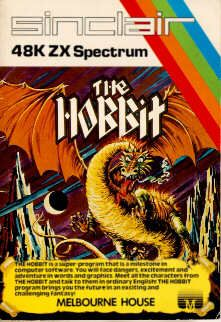 The Hobbit is an illustrated text adventure computer game released in 1982 and based on the book The Hobbit, by J. R. R. Tolkien. It was published by Melbourne House for most home computers available at the time, from more popular models such as the ZX Spectrum, the Commodore 64, Amstrad CPC 464, BBC Micro, MSX, Dragon 32 and Oric. By arrangement with the book publishers, a copy of the book was included with each game sold.