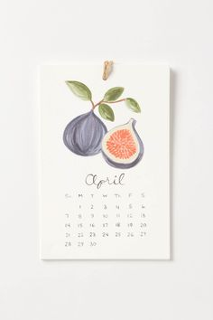 Fruit Calendar - because I can't imagine a day without them
