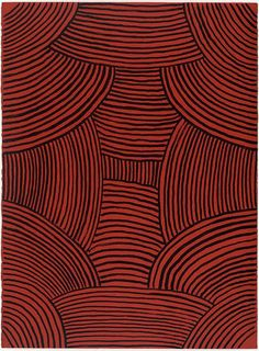 Ada Bird Petyarre (Australian, b. circa 1930), Awelye, from the portfolio Crossroads, 1997. Screenprint, 76 × 56 cm. Edition of 99. via
