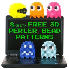free 3D perler bead patterns of 8bit characters