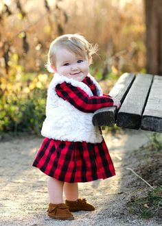 Everyone looks adorable in Black and Red Buffalo Plaid!
