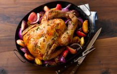 This fragrant, beautifully browned turkey produces very flavorful pan juices. Use them as a base for a simple gravy, or just spoon off excess fat and serve them as they are.