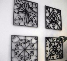 Iron wall art ideas