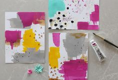 Paint.Plan.Play Painted Backgrounds 1 by melanieseverin at @studio_calico