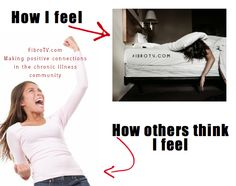 How I feel, How people think I feel. Fibromyalgia  FibroTV, Chronic pain
