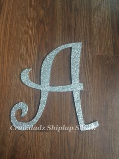 A Glitter Letter, Wooden Letters, Photography Prop, Home Decor, Nursery Decor, Party Decor, Wedding Decor, Anniversary Gift, Monogram Letter by CrawdadzShiplapShack on Etsy https://www.etsy.com/listing/518532091/a-glitter-letter-wooden-letters