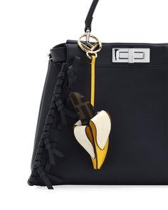 991b64cb30c6 Fendi FF Banana Calf Bag Charm