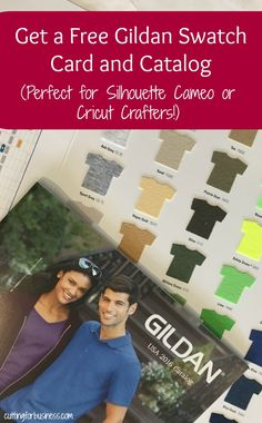 Free Gildan Color Swatch Set for Apparel Decorators - Great for Silhouette Cameo and Cricut Small Business Owners - by cuttingforbusiness.com