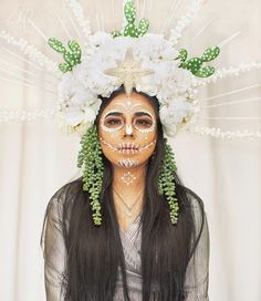 Day of the dead makeup idea Halloween Make Up, Halloween Costumes, Halloween Face Makeup, Instagram Posts, Dead Makeup, Cosplay, Work Looks, How To Make Homemade, Carnival