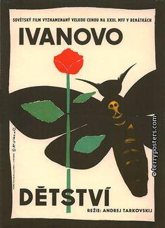 Designer: Vaca, Karel  Origin of film: Soviet Union   Year of poster origin: 1962   Director: Andrej Tarkovskij