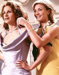 Julia Roberts, Cameron Diaz - '90's fashion, 'My Best Friends Wedding'. 1997.