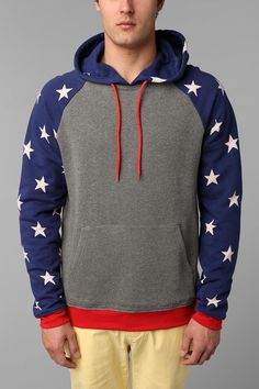 I don't care if this is a guy hoodie... I WANT IT. BDG Stars Pullover Hoodie #urbanoutfitters