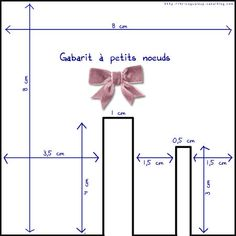 gabarit___boucles faire des noeuds faciles Large Paper Flower Template, Large Paper Flowers, Ribbon Hair Bows, Diy Ribbon, Bow Template, Templates, Bow Hairstyle Tutorial, Creation Couture, Diy Bow