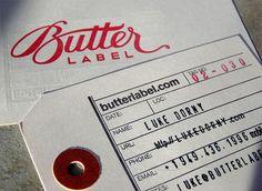 Butter Label letter press business card