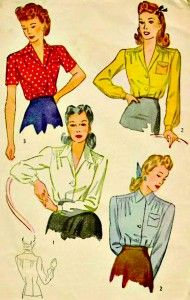 1940's Blouses pattern- I will make them all! #1940s #vintage #pattern