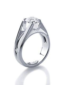www.eskaejeweller.com.au  All platinum engagement ring set with a 1.50ct diamond of exceptional quality. P.O.A