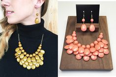 3 LAYER BUBBLE NECKLACE AND EARRING SETS  New Bright Colors!  STARTING AT    75% OFF