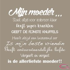 Tips voor moederdag - tekstopcanvas Mom Qoutes, Think Happy Thoughts, Doodle Lettering, Mom Day, Special Quotes, Interesting Quotes, Daughter Quotes, Messages, Funny Facts