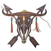 Skull & Arrows Metal Wall Decor