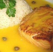salmon con salsa de mango