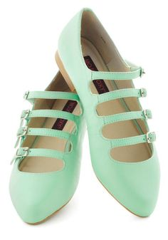 These flats are absolutely adorable. And I'm really digging the mint color this season.