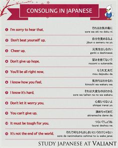 Consoling in Japanese Basic Japanese Words, Japanese Verbs, Japanese Phrases, Study Japanese, Learning Japanese, Learning Italian, Japanese Language Lessons, Spanish Language Learning, Chinese Language