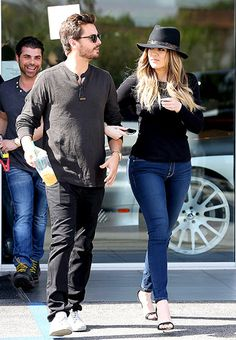 Khloe Kardashian walks arm-in-arm with Scott Disick filming Keeping Up with the Kardashians on Feb. 19