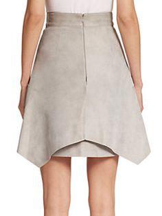 Akris - Leather Apron Skirt