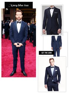navy blue tux inspired by the red carpet at The Oscars